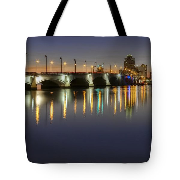 West Palm Beach At Night Tote Bag