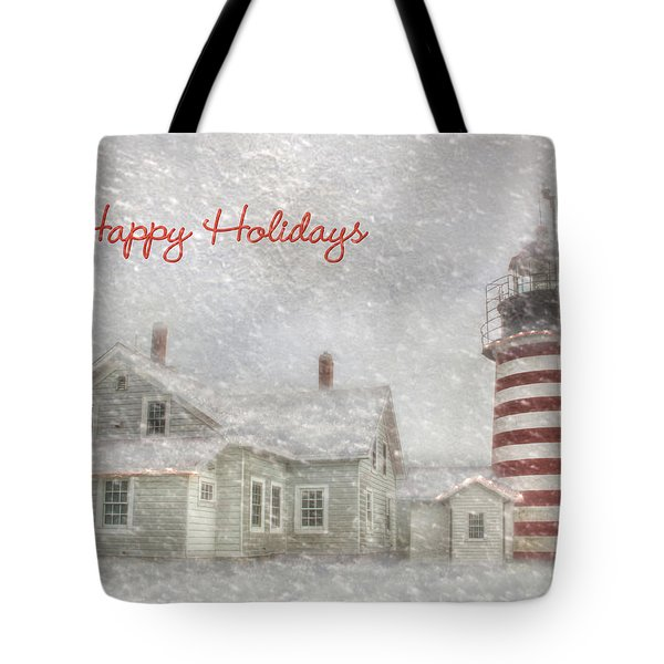 West Quoddy Christmas Tote Bag by Lori Deiter