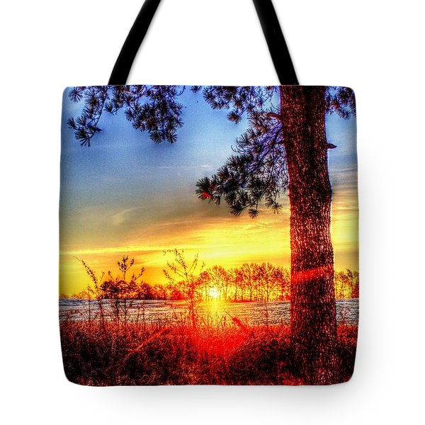 West Tennessee Sunrise Tote Bag