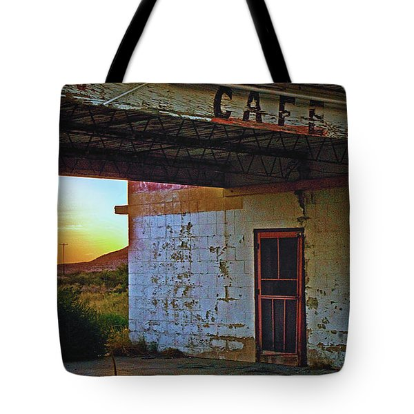 West Texas Cafe Tote Bag by Brian Kerls