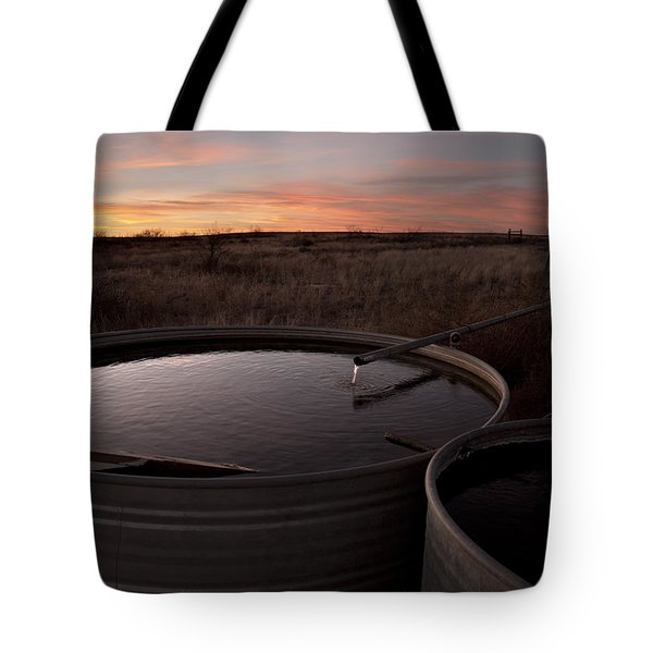 Tote Bag featuring the photograph West Texas Plains Sunset by Melany Sarafis