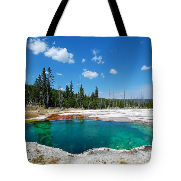 West Thumb Abyss Pool Tote Bag by Debra Thompson