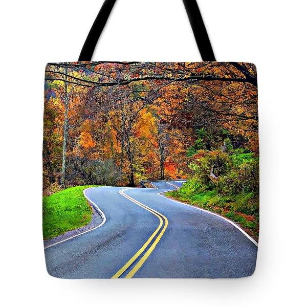 West Virginia Curves 2 Tote Bag