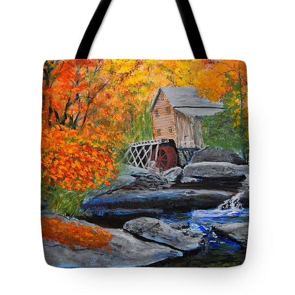 West Virginia Grist Mill Tote Bag by William Tremble