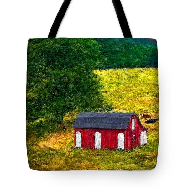 West Virginia Impasto Tote Bag by Steve Harrington