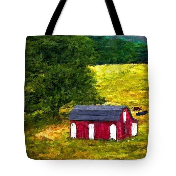 West Virginia Painted Tote Bag by Steve Harrington