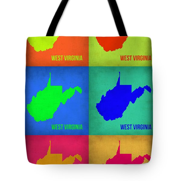 West Virginia Pop Art Map 1 Tote Bag