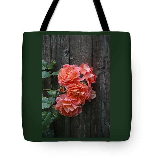 Westerland Rose Wood Fence Tote Bag by Tom Wurl