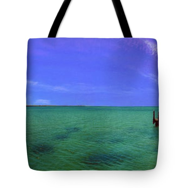 Tote Bag featuring the photograph Western Australia Busselton Jetty by David Zanzinger