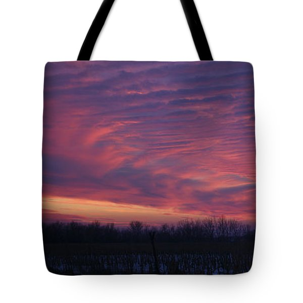 Western Evening Wide Open Tote Bag