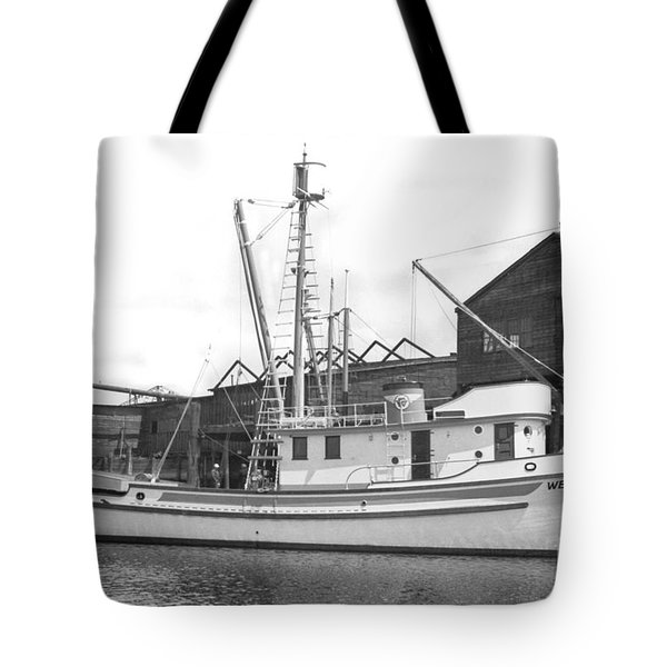 Western Flyer Purse Seiner Tacoma Washington State March 1937 Tote Bag