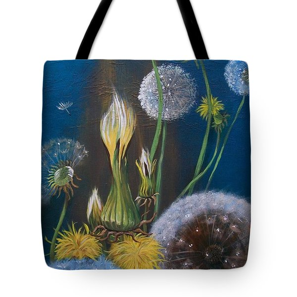 Western Goat's Beard Weed Tote Bag by Sharon Duguay