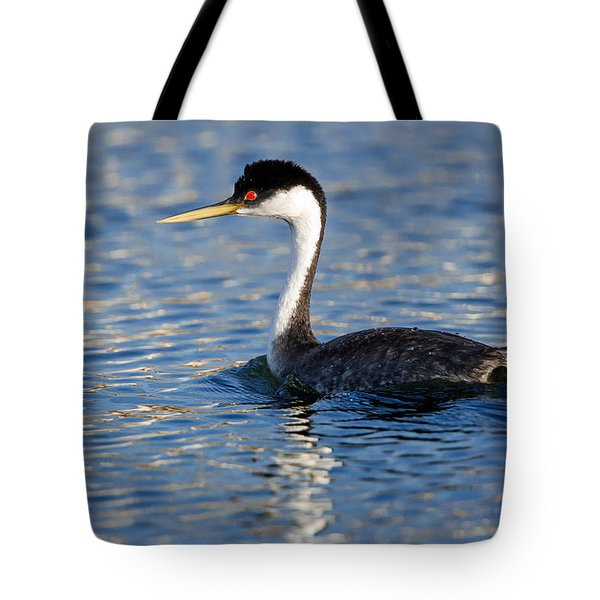 Tote Bag featuring the photograph Western Grebe by Jack Bell