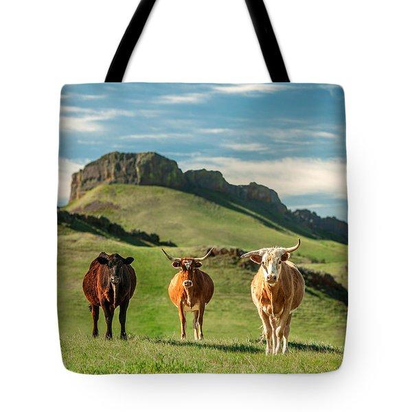 Western Longhorns Tote Bag