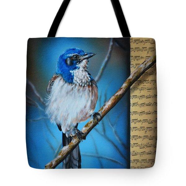 Western Scrub Jay Tote Bag