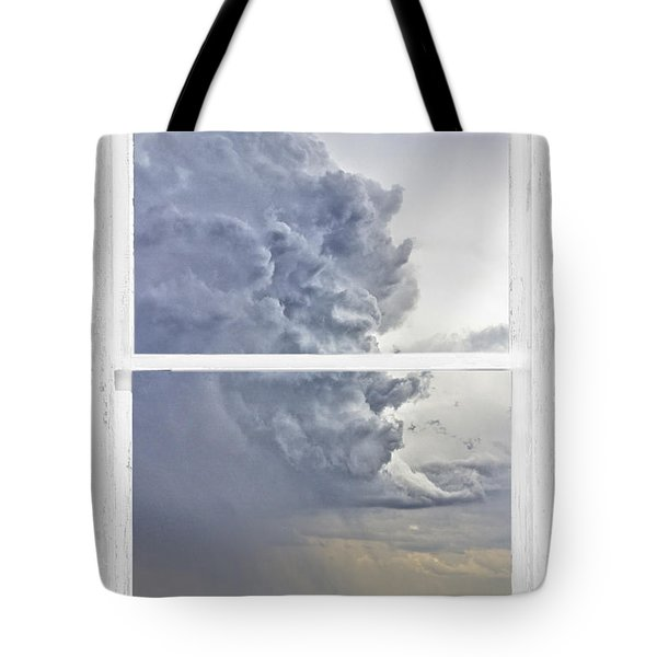 Western Storm Farmhouse Window Art View Tote Bag by James BO  Insogna