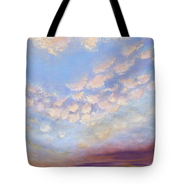 Tote Bag featuring the painting Western Sunset by Margaret Bobb