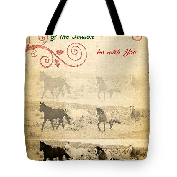 Western Themed Christmas Card Wyoming Spirit Tote Bag