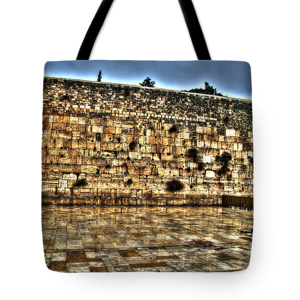 Tote Bag featuring the photograph Western Wall In Israel by Doc Braham
