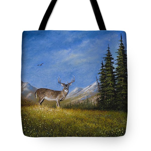 Western Whitetail Tote Bag by C Steele