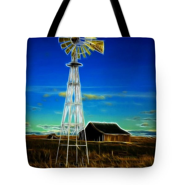 Western Windmill Tote Bag by Steve McKinzie