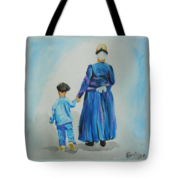 Westfriese Woman And Boy Tote Bag