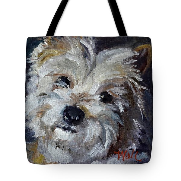 Westie Mix Tote Bag