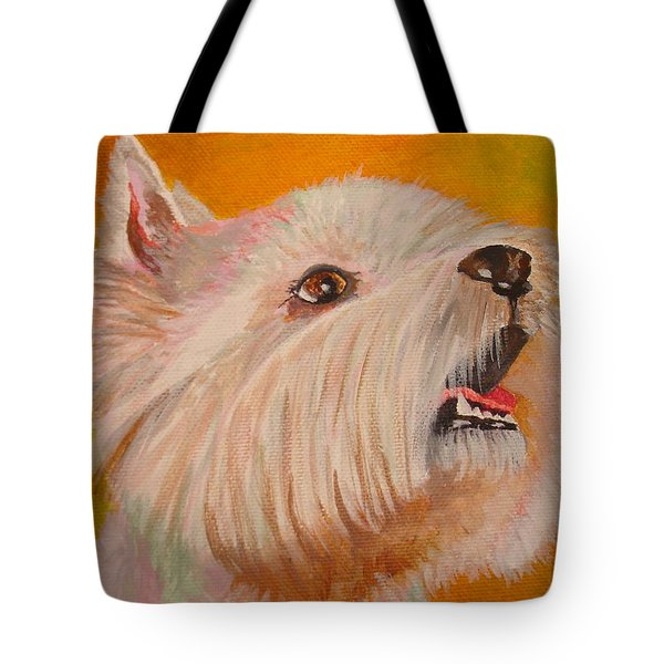 Westie Portrait Tote Bag