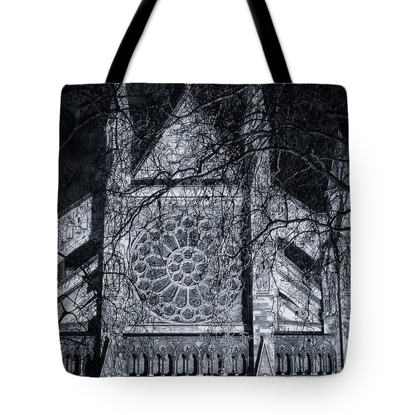 Westminster Abbey North Transept Tote Bag by Joan Carroll