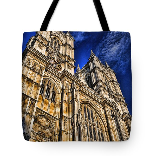 Westminster Abbey West Front Tote Bag by Stephen Stookey