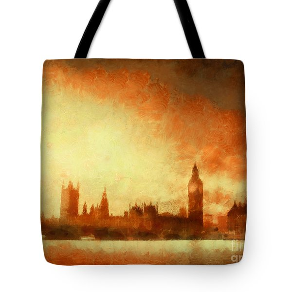 Westminster At Dusk Tote Bag