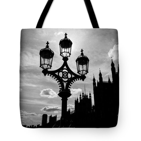 Tote Bag featuring the photograph Westminster Silhouette by Matt Malloy