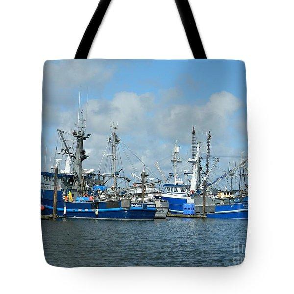 Westport Fishing Boats Tote Bag