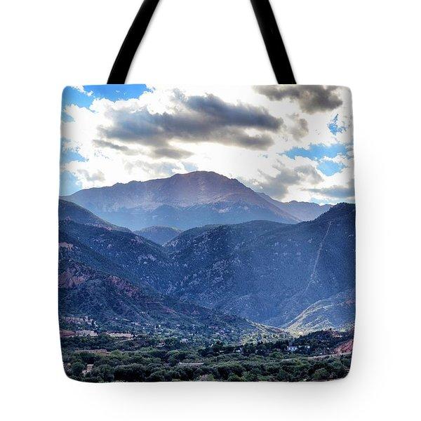 Westside Colorado Springs Tote Bag by Clarice  Lakota