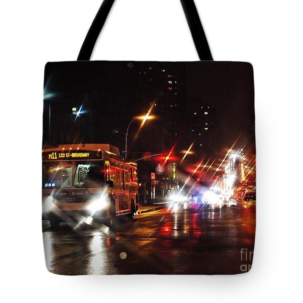 Wet City 4 Tote Bag by Sarah Loft