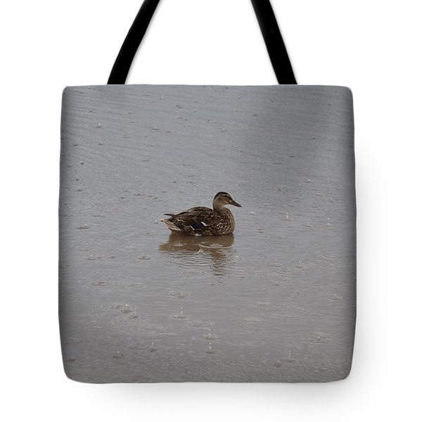 Wet Duck Tote Bag by Scott Lyons