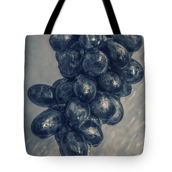Wet Grapes Five Tote Bag by Bob Orsillo