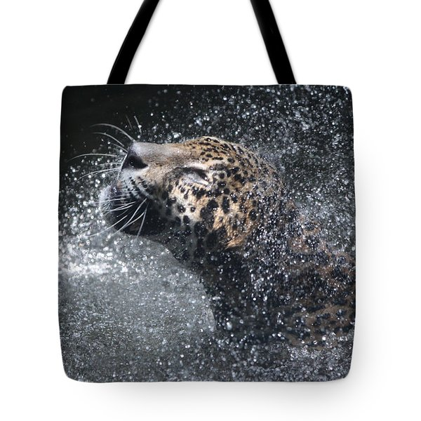 Wet Jaguar  Tote Bag by Shoal Hollingsworth