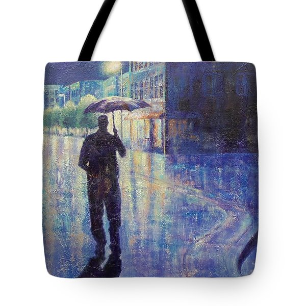 Wet Night Tote Bag