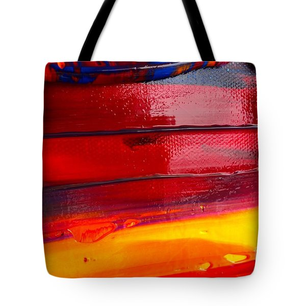 Tote Bag featuring the photograph Wet Paint 123 by Jacqueline Athmann