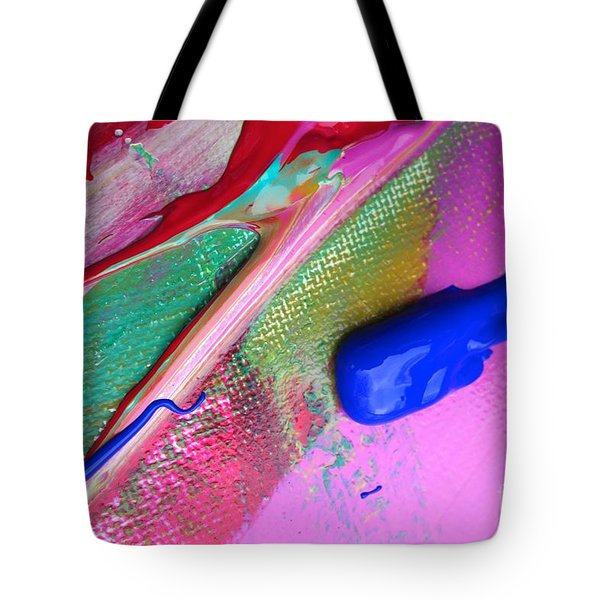 Tote Bag featuring the painting Wet Paint 31 by Jacqueline Athmann