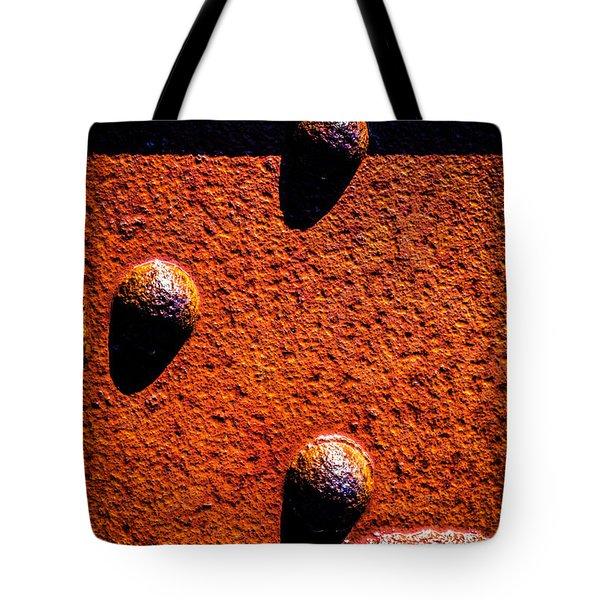 Wet Rivets  Tote Bag by Bob Orsillo