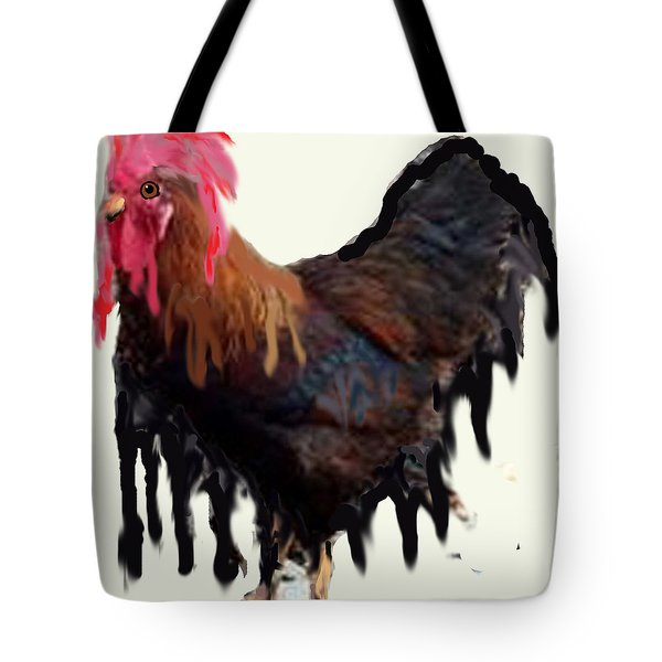 Wet Rooster Tote Bag by Roger Swezey