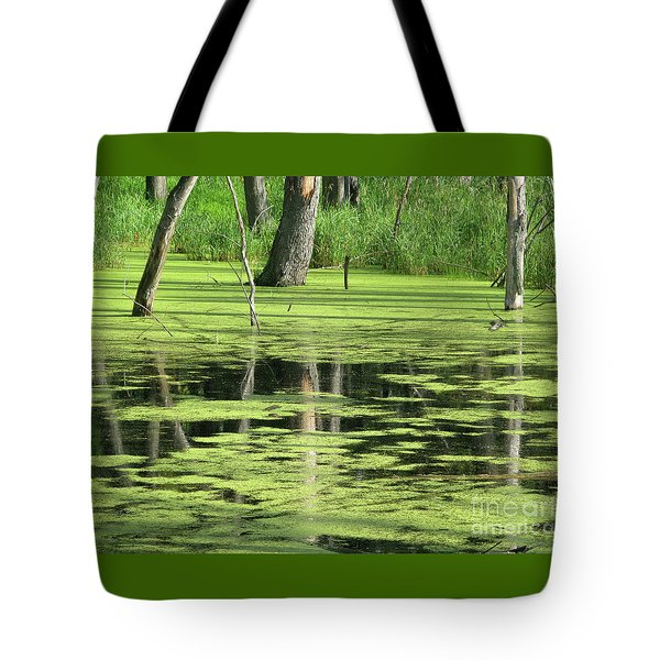 Tote Bag featuring the photograph Wetland Reflection by Ann Horn