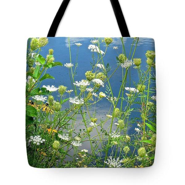 Wetland Wildflowers Tote Bag by Rita Mueller