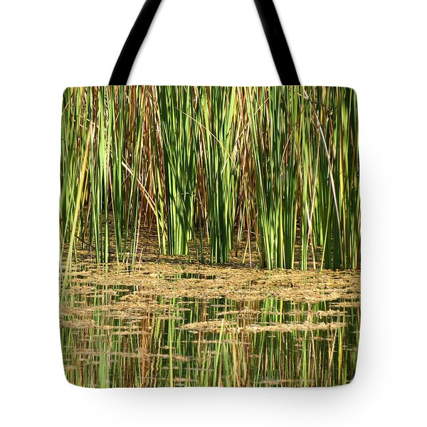 Tote Bag featuring the photograph Wetlands by Laurel Powell