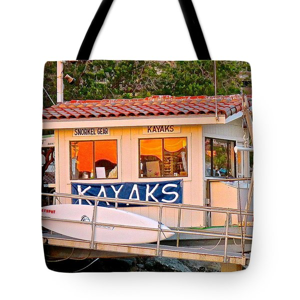 Wetspot Kayak Shack Tote Bag