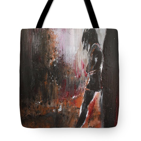 Tote Bag featuring the painting We've Got Your Back by Lucy Matta