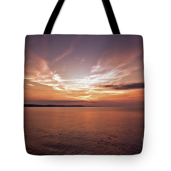Tote Bag featuring the photograph Weymoth Morning Glory by Baggieoldboy