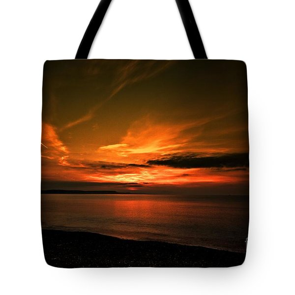 Tote Bag featuring the photograph Weymouth  Golden Sunrise by Baggieoldboy